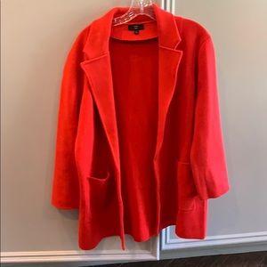 JCrew Red Sweater Blazer